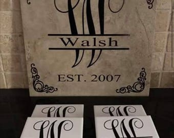 Custom Decortive tile and coasters
