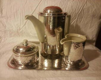Antique German WMF Hutscheneuther 4 pc Coffee set
