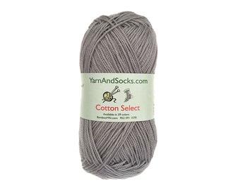 Campfire Smoke Gray Yarn 4 Skeins All Cotton Select Dimgray