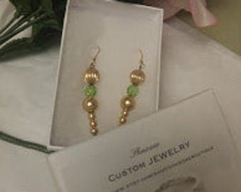Lady J Peridot and Gold Earrings