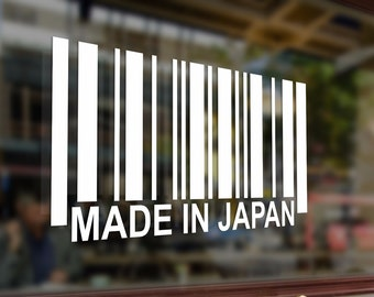 Made in Japan barcode JDM Vinyl Stickers Funny Decals Bumper Car Auto Computer Laptop Wall Window Glass Skateboard Snowboard Helmet
