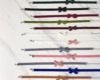 Bow velvet choker , thin velvet choker , necklace , jewelry