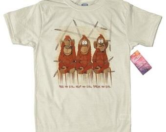 Three Wise Monkeys T shirt
