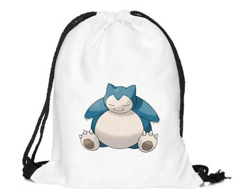 Snorlax Pokemon Draw String Backpack