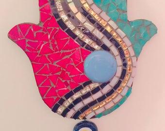 Glass Mosaic The Hamsa