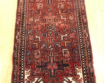 Vintage Persian Heriz. 1960's.   2'6 x 4'7.  #1761IR