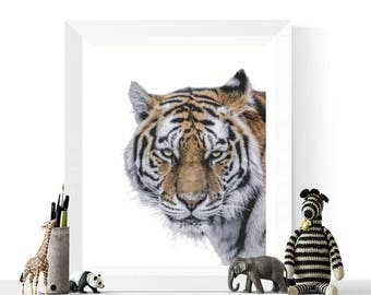 Tiger Print   Animal Art   Tiger Photograph Printable   Nursery Decor   Tiger Art   Safari Art   Gallery Wall   Digital Art