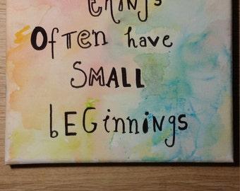 Colourful Watercoloured Quote Canvas