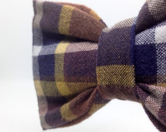 Handmade Check Bow Tie | Upcycled