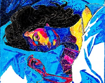 "Dry Erase Drawing of Lorde's ""Melodrama"" artwork HD Print"