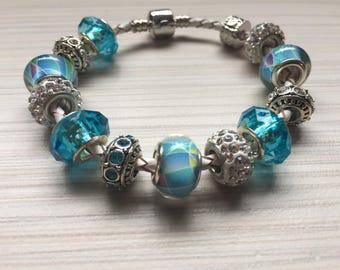 Leather bracelet Pandora Style