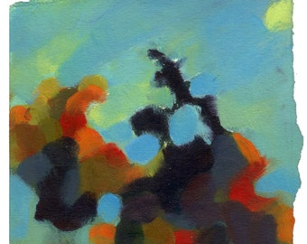 Day Light (Original, small size, oil painting on paper)