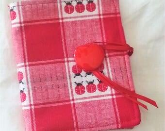 Ladybug print tea wallet