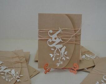 Wedding Invitations vintage - wedding invitation set, elegant wedding invitation