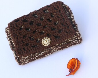 Cover, toiletry handmade Brown knitted