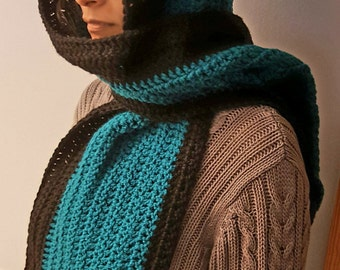 Crochet handmade Hooded scarf