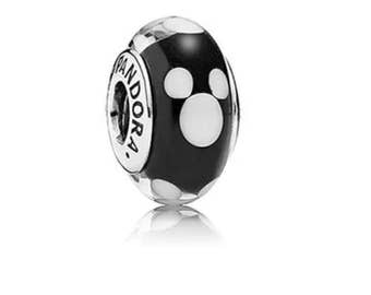 New Pandora Disney Classic Mickey Mouse Murano Glass 791633