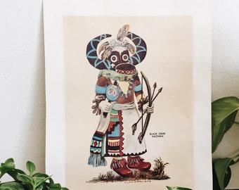 Black Ogre Kachina Print by Terry Ann Letterman
