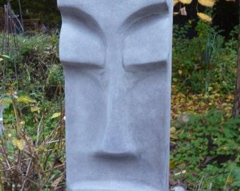 MOAI Easter Island figure stone cast 59 cm frost-resistant pierre reconstituée easter island tiki concrete garden ornament