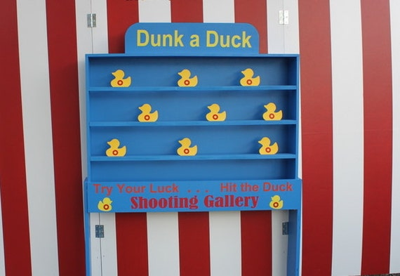Duck Shooting Gallery Target Dunk A Game Lawn