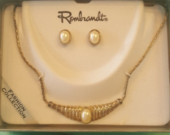 Vintage Rembrandt Jewelry Set