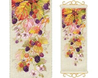 Counted Cross Stitch Kit - Blackberry (Riolis) - Floral cross stitch pattern - Berryes cross stitch - Flowers cross stitch - Gift idea