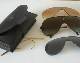Vintage Maserati 6119 sunglasses - 3 glasses