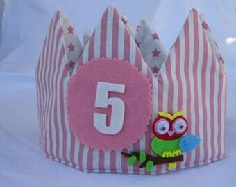 fabric crown, for birthdays, birthday party, birthday gift