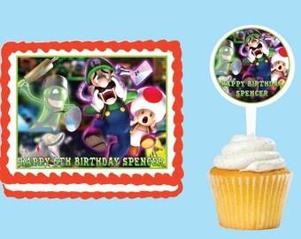Mario Cake Topper Etsy