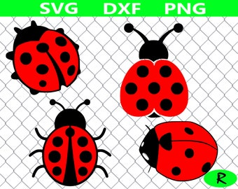 Ladybug SVG bundle, lady bug SVG , insect SVG, ladybug clipart, svg files for silhouette, cricut, cut file, dxf, png