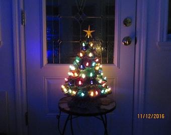 Christmas with lights tree