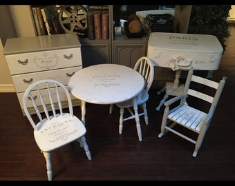 Adorable Shabby Chic Children's Furniture Set