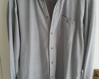 Checked shirt in brushed cotton. Soft and comfortable. Large, oversized.