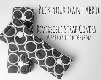 Car Seat Strap Covers, Reversible Strap Covers, Baby Strap Covers, High Chair Strap Covers, Strap Covers, Couvre Bretelle, Minky Strap Cover