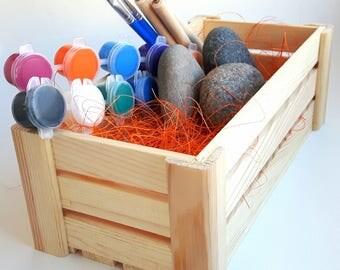 Stone mandala crafting set