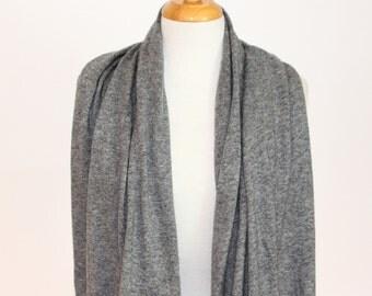 cashmere scarf grey