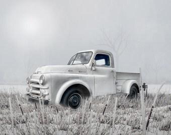 White Dodge Pickup Truck