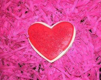 Red Heart Cookies w/ Sprinkles