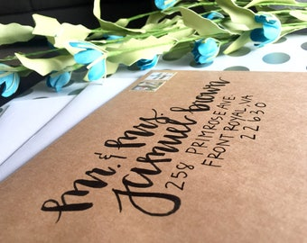 Handwritten Addressed Envelope-Lily Design