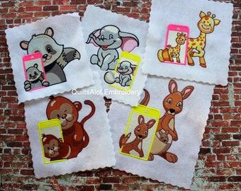 Machine Embroidery Animal Selfie Designs SET2