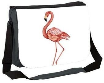 Messenger bag - bag cross body bag - Flamingo