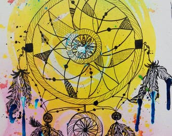 Dream catcher, Dreamcatcher one of a kind, hand painted artwork