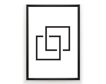 Geometric Print, Black and White Prints, Abstract Print, Instant Download, Printable, Geometric Artwork, Digital Prints, Abstract,