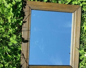 Old wooden frame miror 37 x 31 cm