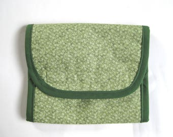 Folding Homeopathy Storage Bag (Green Floral)