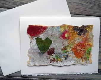 Blank Greeting Card--Sandpaper Print 4