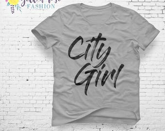 City Girl, Small Town USA, Country Style, Southern Shirt, Unique Find, Custom Design, Southern Boutique, Farmhouse, Farming, Cowgirl,