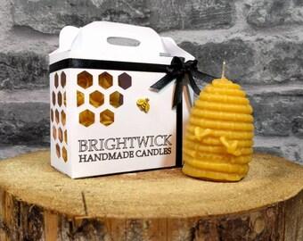 Beeswax candles, Christmas gift set, pure beeswax, gift for her, Christmas candle, Autumn candle, Christmas decor, Christmas gift, gift box.