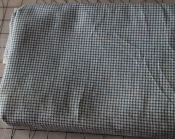 1 Blue Checked Flannel Gingham Flannel Soft Fabric 1