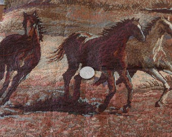 24 Horse tapestry fabric